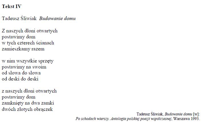 Pytanie Nr 1583 Test Gimnazjalny Język Polski Razem W Parze